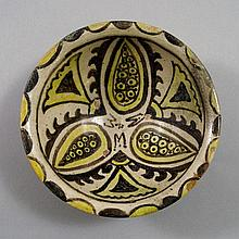 An Iran pottery lustre style bowl, 12th century,