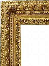 An Italian Carved and Gilded Gadrooned Frame, 18th