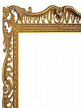 An English Carved and Gilded Pierced and Swept Fra