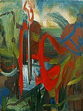 Maurice Cockrill RA, British 1936-2013- ''Yellow L