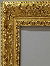An Carved and Gilded Louis III Style Frame, late 1