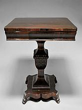 A William IV mahogany dining table, 19th century,