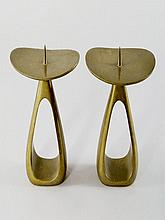 Karl Aubock, Austrian, 1900-1957, a pair of bronze