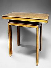 An Art Deco style burr yew rectangular dining tabl