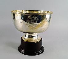 Of horse racing interest: A Chinese silver rose bowl ATV Cup trophy, Wai Kee Sterling, Hong Kong, th