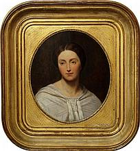 Ary Scheffer, Dutch/French 1795-1858- Portrait of Anna Maria Helena, Comtesse de Noailles, bust-leng