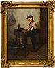 Charles Spencelayh RMS HRBSA, British 1865-1958- ''The Boot Black''; oil on canvas, signed and dated, Charles Spencelayh, £0