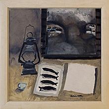 Christine L McArthur RSW RGI, Scottish b.1953- ''Len Hunt's Beautiful Poem''; oil on linen, signed,