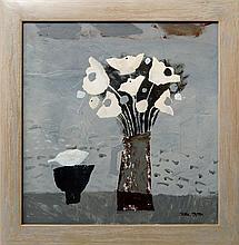 Christine L McArthur RSW RGI, Scottish b.1953-  ''Cloud Flowers and Lapping Loch''; mixed media, sig