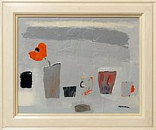 Christine L McArthur RSW RGI, Scottish b.1953- ''And then, and then, and then''; gouache and acrylic