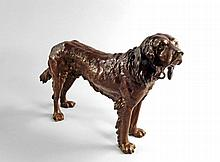 An Austrian cold painted bronze model of a Spaniel, early 20th century, 23cm high