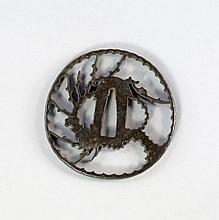 A Japanese bronze tsuba, 18th/18th century, pierce