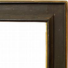 An Italian Black Painted Cassetta Frame of Large P