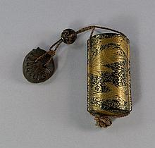 A Japanese lacquer and gilded five section inro, M