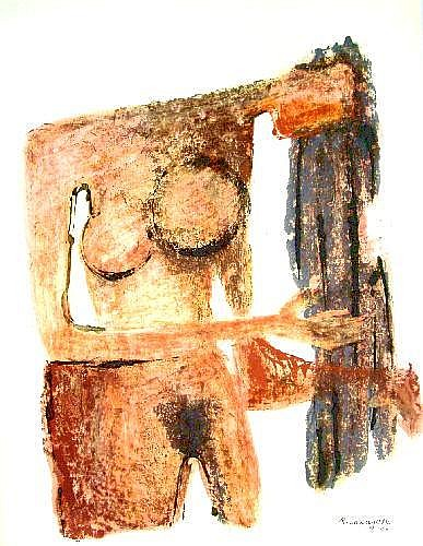Ramon Lapayese 1928-1994- Abstract female nude;