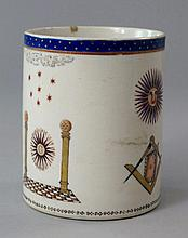A Chinese export Masonic mug, 18th/19th Century,