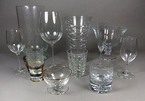 A suite of drinking glasses by Riedel together