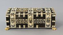 An Indian horn and ivory casket, 19th century,