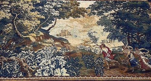 A Flemish Verdure tapestry late 17th/early 18th