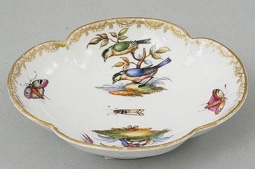 An Augustus Rex style quatrefoil formed Dish,