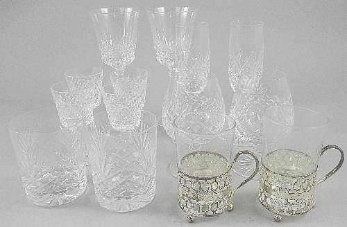 A quantity of miscellaneous drinking glasses, late