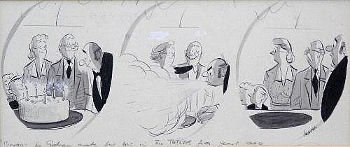 Alex Graham (1913-1991) - A framed and glazed pen,