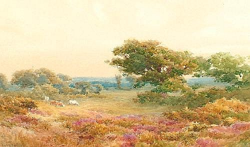 Joseph Powell 19/20th century- 'Near Wareham';