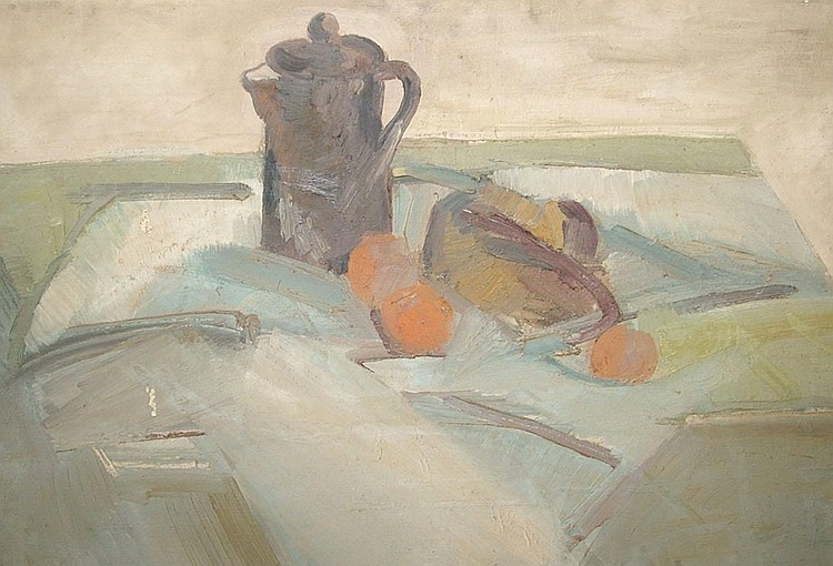 Dorothy Mead 1928-1975- Still life; oil on canvas,