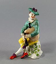 A Meissen model of a bagpiper, 18th century, proba