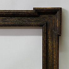 A Dutch Ebonised Oak Cassetta Frame, 19th century,