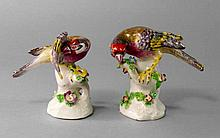 A pair of Bow models of birds, circa. 1760-1770, m