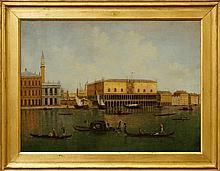 Italian School, early 20th century- Venice canal,