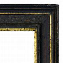 An Italian Ebonised and Parcel Gilded Nutwood Cass