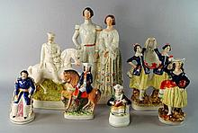 A Staffordshire pottery figure group of the Prince