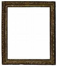 An Italian Carved and Silvered Provincial Frame, l