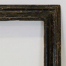An Italian Ebonised Bolection Frame, 17th century,