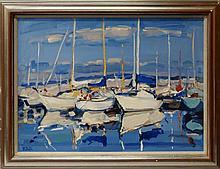 James Fullarton, Scottish b.1946- ''Yachts on the