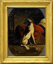 French School, 19th century- Study of a dog seated