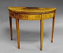 A George III mahogany card table, late 18th centur