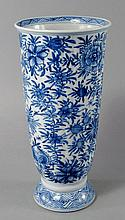 A Chinese porcelain vase, 19th century, with flute