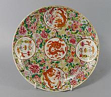 A large Chinese porcelain famille rose medallion d