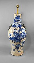 A Chinese porcelain vase, late 19th century, with