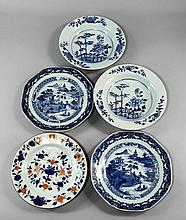 A set of seven Chinese export porcelain bowls, 18t
