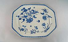 A large Chinese export porcelain meat platter, lat