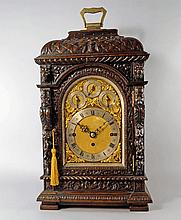 A large oak mantel clock, late 19th/early 20th cen