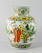 A Chinese porcelain baluster vase, 19th century, p