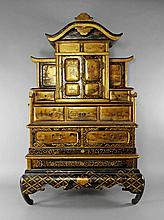A Japanese lacquer table cabinet, late 19th/early