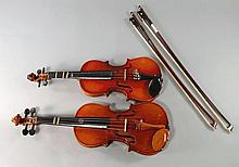 Two Chinese tutorial violins, 20th century, with c