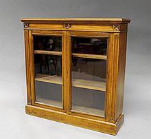 A Victorian mahogany dwarf bookcase, 19th century,