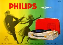 PHILIPS - TWISTERS ORIGINAL MIDCENTURY MODERN POSTER BY ERIC